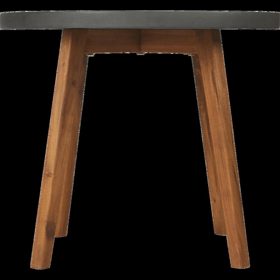 Table d'appoint de jardin gris anthracite D60xH50cm-LIMONTA