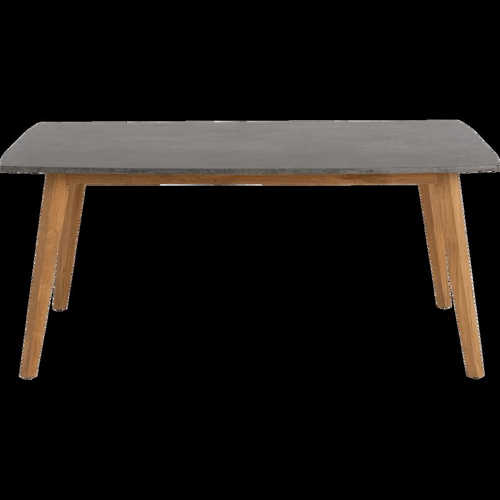 PRAYA - Table de jardin en teck et composite (8 places)