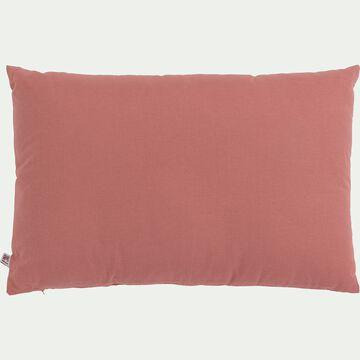 Coussin en coton - rouge ricin 40x60cm-CALANQUES