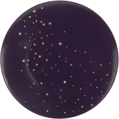 Assiette plate en porcelaine violette D27cm-LYRE