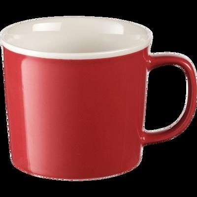 Mug en porcelaine rouge arbouse 35cl-CAFI