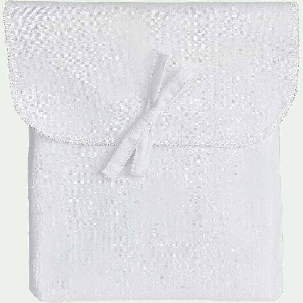 Taie de traversin en coton - blanc 43x190cm-CALANQUES