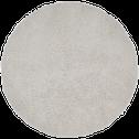 Tapis sherpa rond uni D120cm gris borie-AURORE