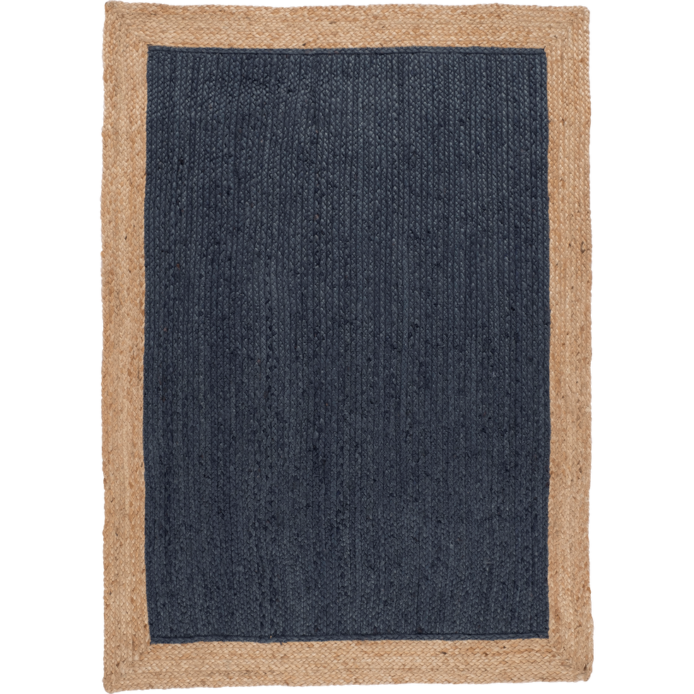 Tapis en jute bleu myrte - Plusieurs tailles-NAÏA