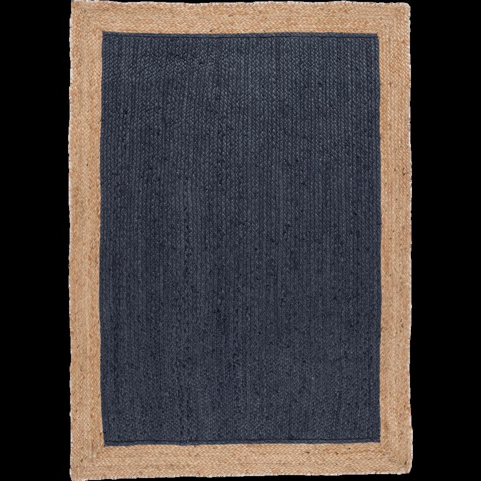 Tapis en jute bleu myrte - Plusieurs tailles - NAÏA - 120x170 cm ...