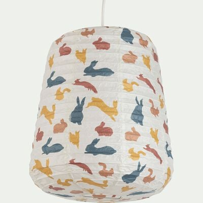 Suspension en papier à motif - multicolore D27xH32cm-Alou