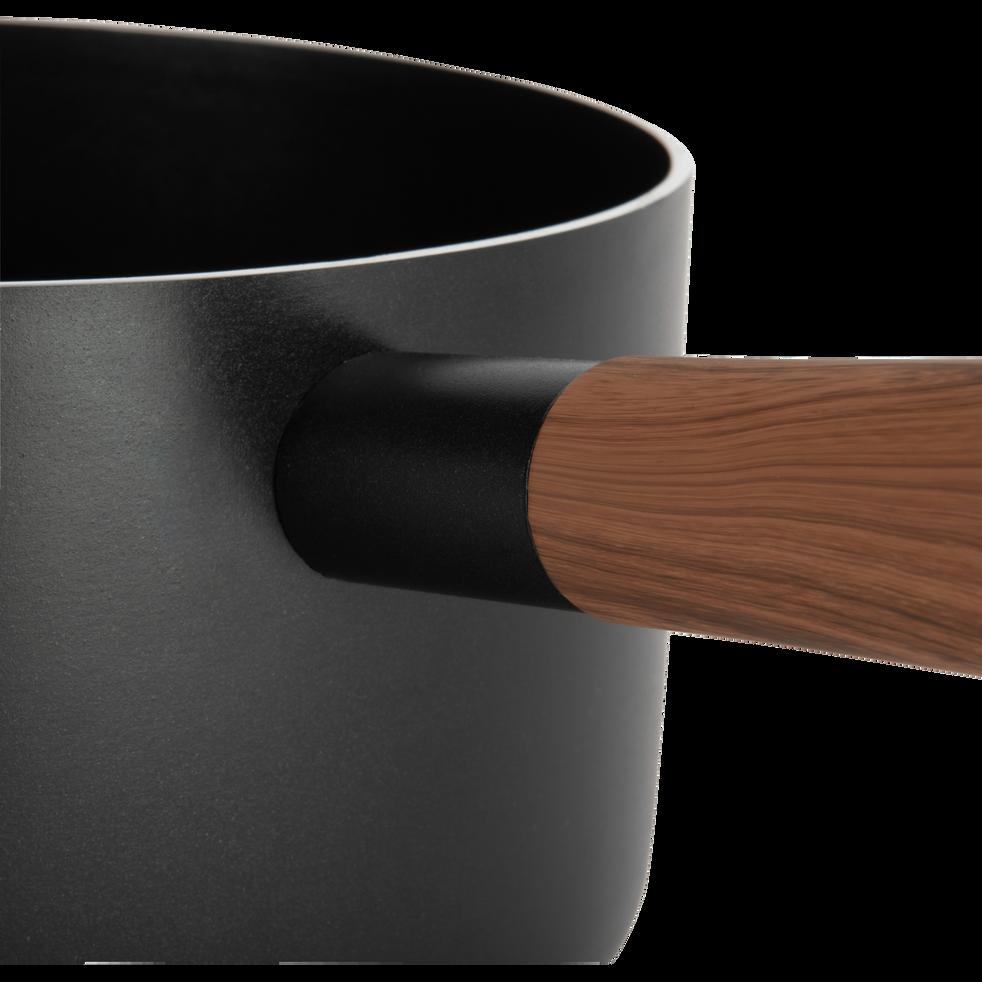 Casserole en aluminium noir D14cm (tous feux dont induction)-PADENA
