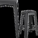 Tabouret de bar en métal gris anthracite - H65cm-TRIVIA
