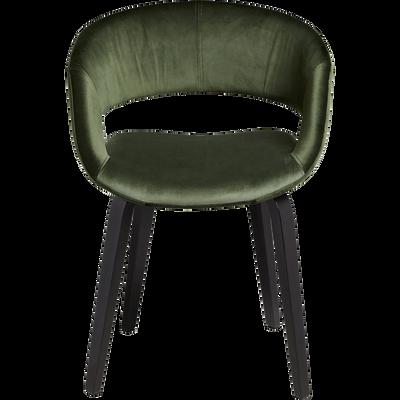 Chaise En Velours Vert Cdre Avec Accoudoirs JOYAU