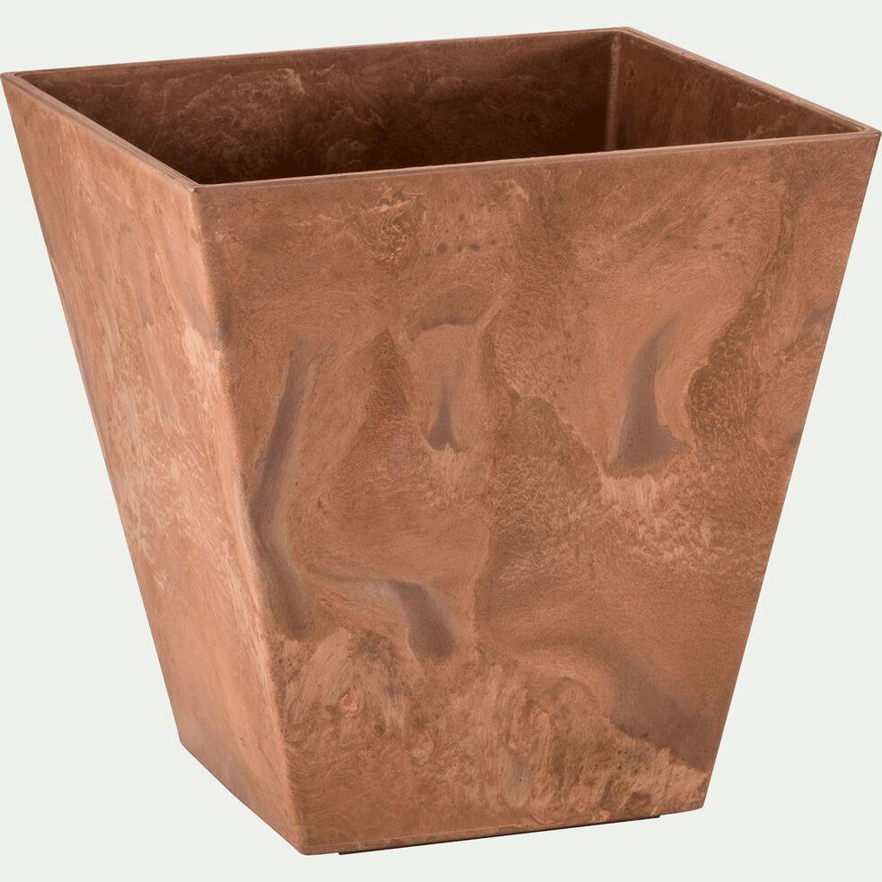 Pot à réserve d'eau - marron D40cm-ELLA