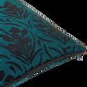 Coussin à motifs tissés en coton bleu niolon 40x40 cm-AMPHORES