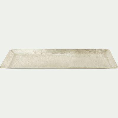 Plateau en aluminium martelé - argenté 18,5x50cm-MAJOR