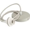 Cordon électrique en tissu vert olivier culot E27 L150cm-ARGUIN