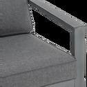 Fauteuil de jardin en aluminium gris-CAGLIARI