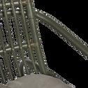 Fauteuil à bascule en rotin vert cèdre-NUA