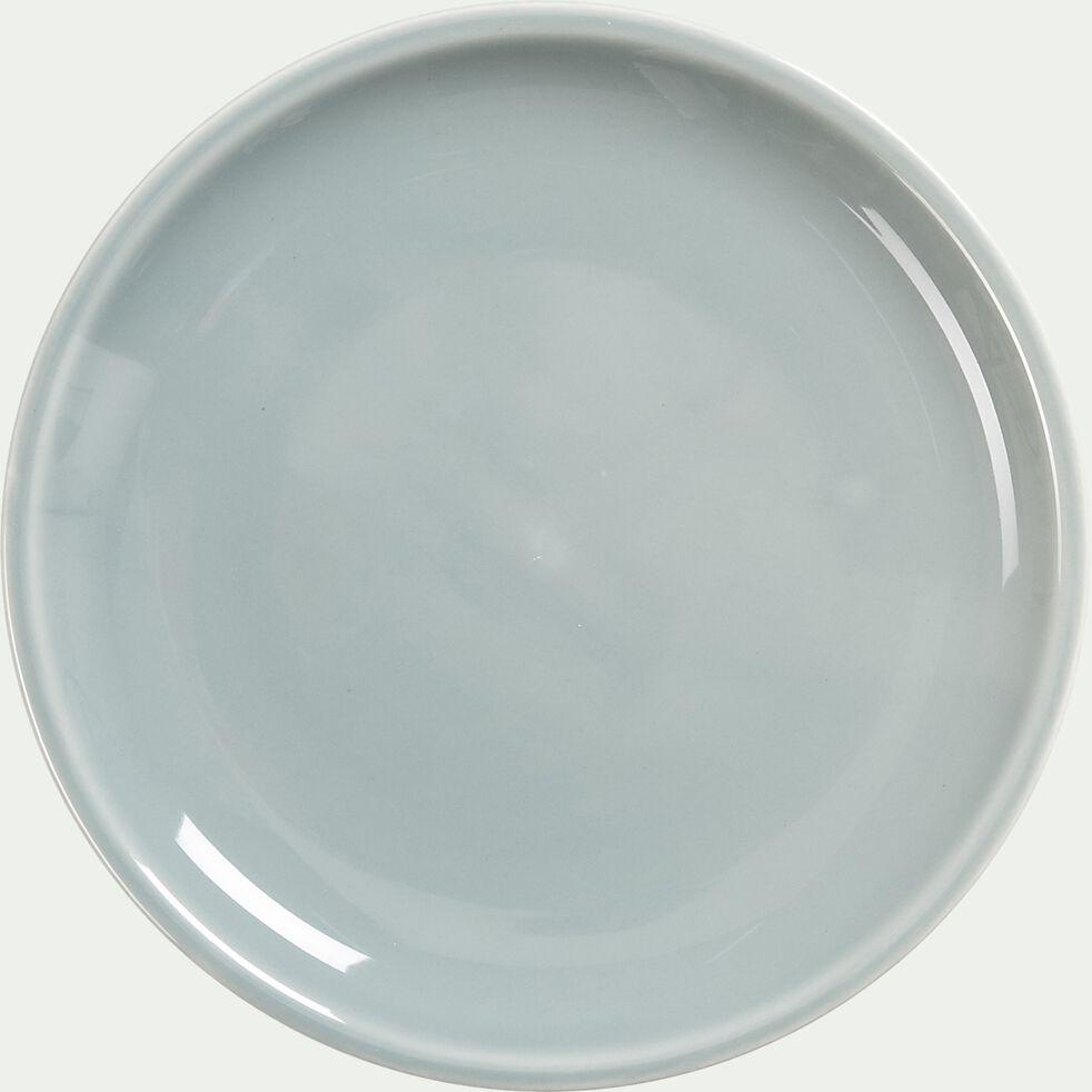 Assiette à dessert en faïence - gris borie D20,5cm-JANGAL