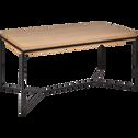 Table de repas rectangulaire bois et acier - 6 places-CESARINE