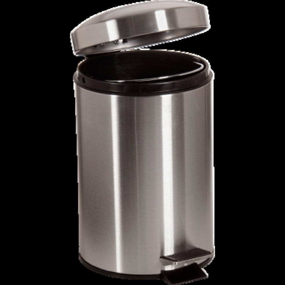 Poubelle 3 litres acier-Plugy