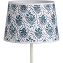 Abat-jour tambour à motif floral bleu D23cm-AMPHORE