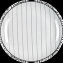 Assiette plate en grès blanc D27cm-RAYURE
