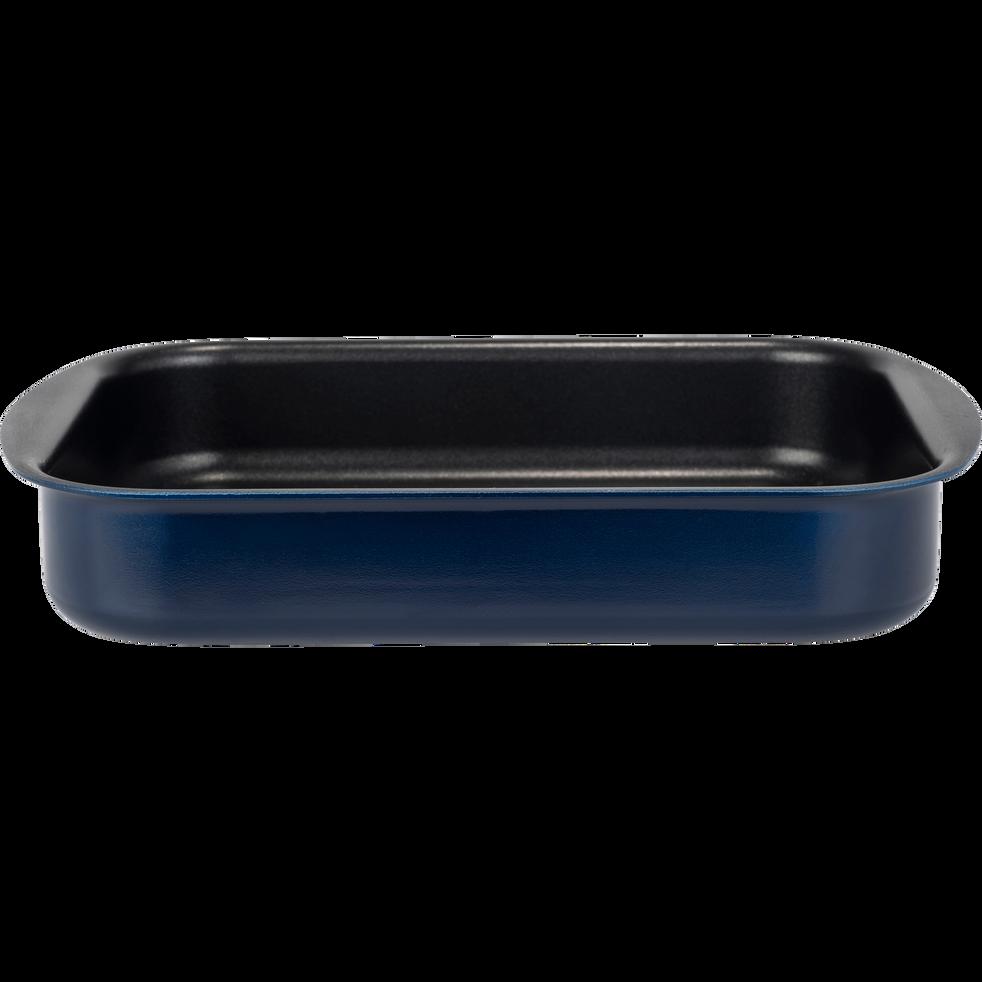 Plat à four rectangulaire en aluminium bleu myrte 25x35cm-PINTO