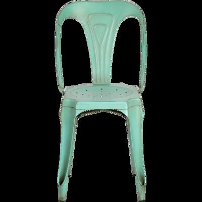 Chaise en métal vert-INDUS