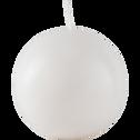 Bougie boule blanc capelan-HALBA