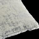 Coussin en velours dévoré gris 45x45cm-CHI