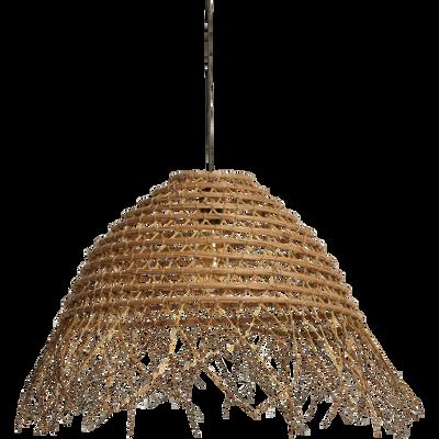 Suspension ethnique en palmier naturel D48cm-MISIA