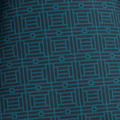 Nappe en coton noir à motifs 140x250cm-MOZAIQUE