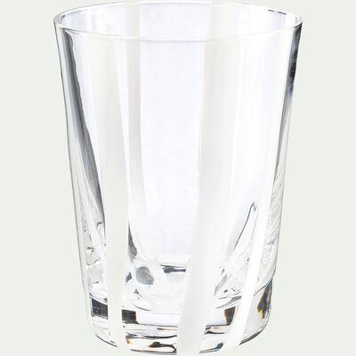 Verre à eau - blanc D8xH11cm-MADERE