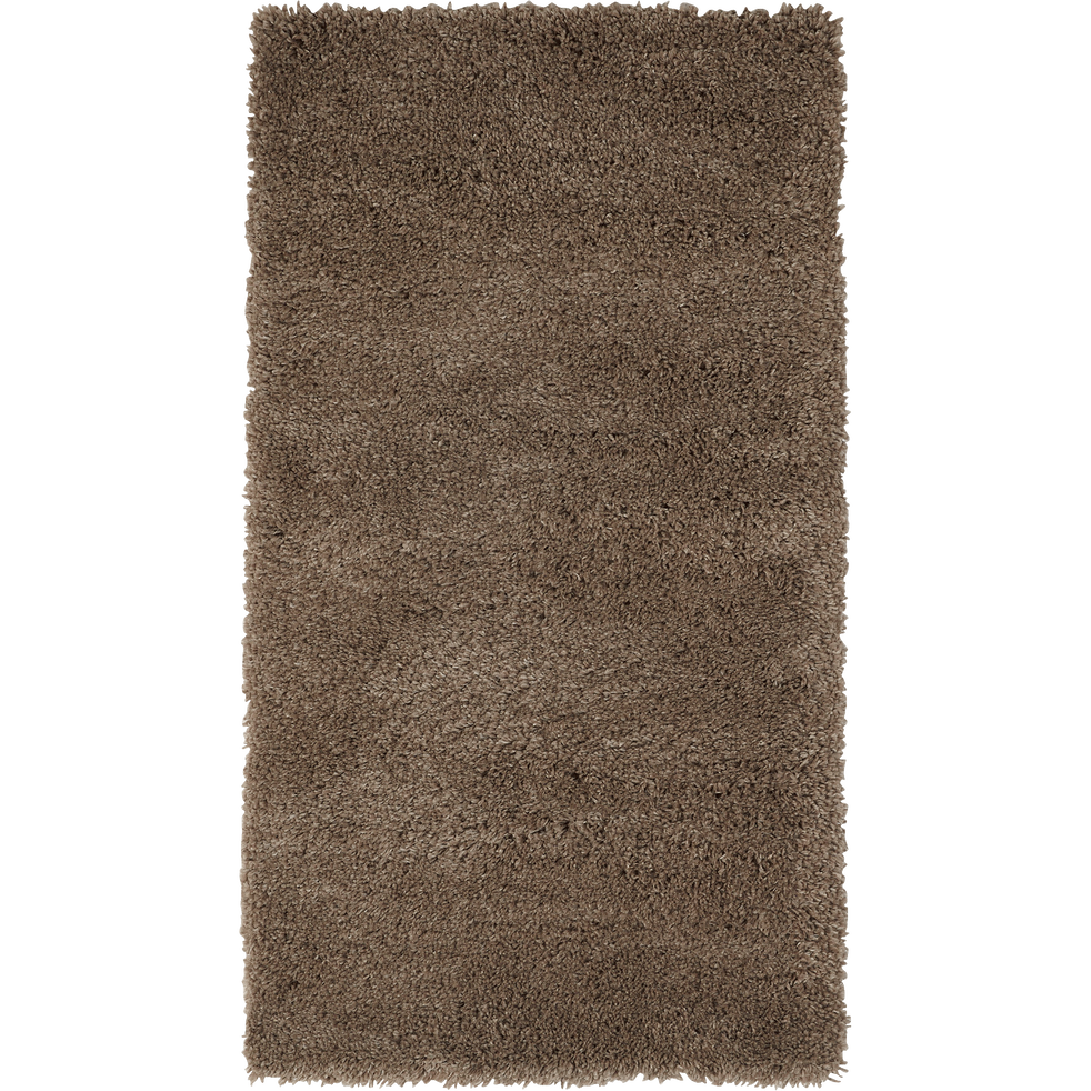 Descente de lit à poils longs taupe 60x110cm-Kris