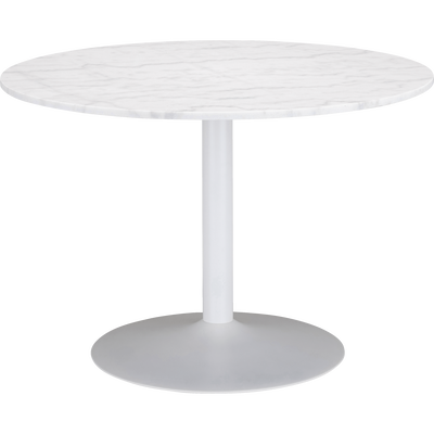 Table de repas ronde en marbre blanc - 5 places-SICILE