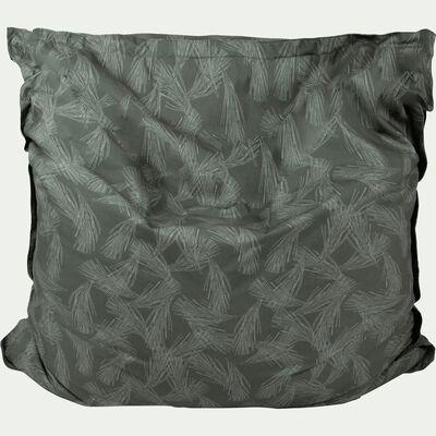 Pouf d'extérieur vert cèdre 150x130cm-Varenne