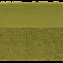 Serviette invité en coton 30x50cm vert garrigue-AZUR