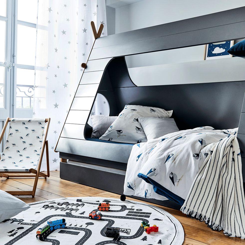 Tiroir de lit en bois pour lit Tipi - Gris restanque-TIPI