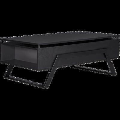 Table basse noire avec tablette relevable-TURN
