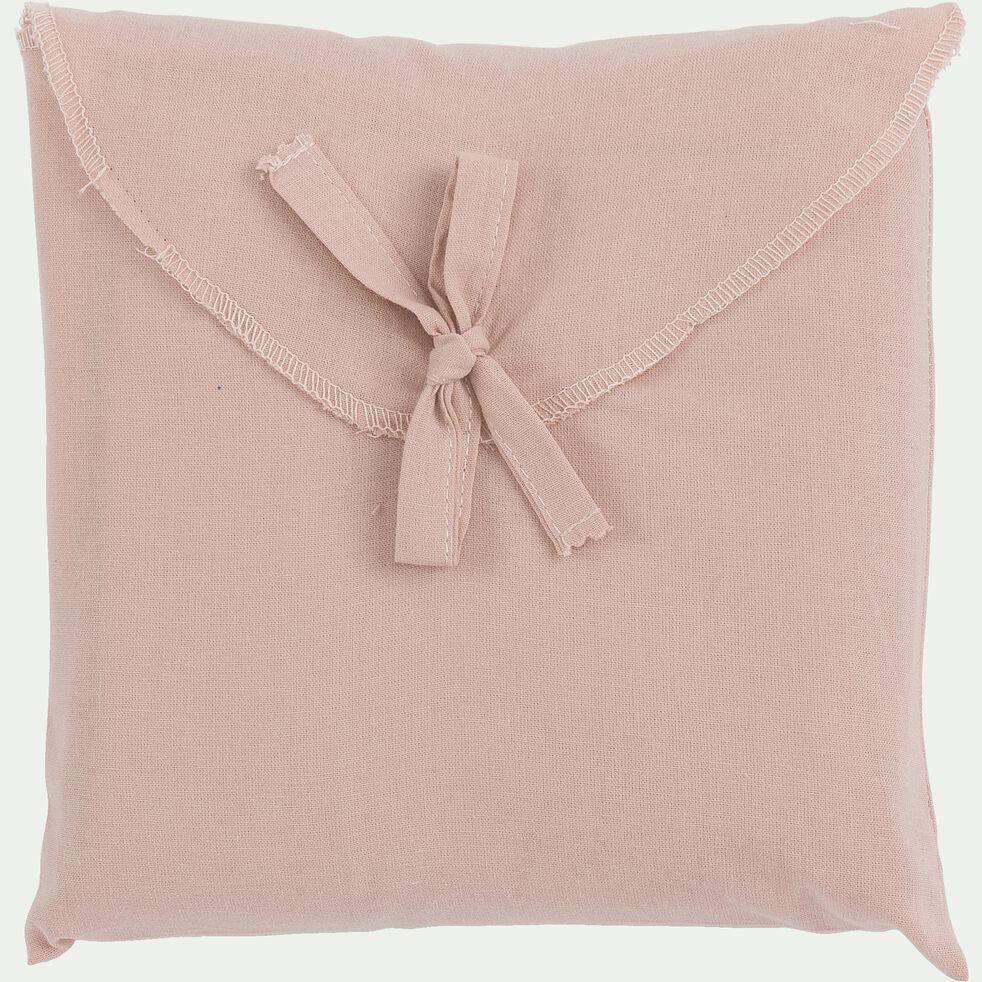Taie de traversin en coton - rose rosa 43x190cm-CALANQUES