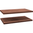 Lot 2 tablettes effet noyer brun L65cm-ALPHA