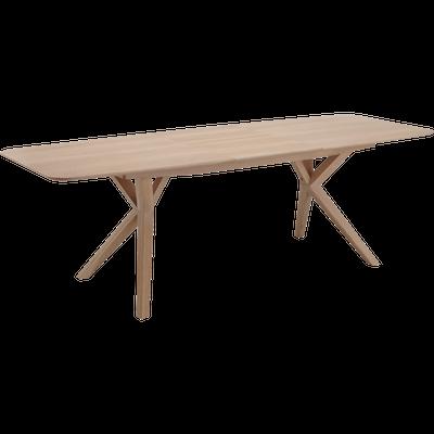 Table de repas extensible en chêne - 8 à 10 places-LEONIE
