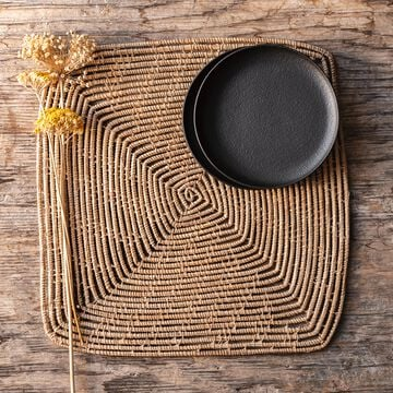 Set de table carré en fibres de palmier 35x35cm-ARAL