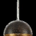 Suspension en métal noir et doré D35cm-HANNAH