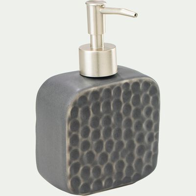 Distributeur de savon en céramique martelée - gris-NEVA