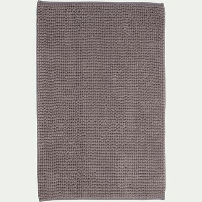 Tapis de bain chenille en polyester - gris restanque 50x80cm-PICUS