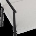 Chaise en tissu avec accoudoirs beige roucas-JASPE