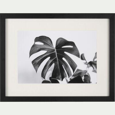 Image encadrée noir et blanc 30x40cm-SILVE