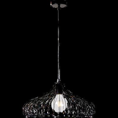 Suspension filaire forme évasée en métal noir D44,5cm-VINTI