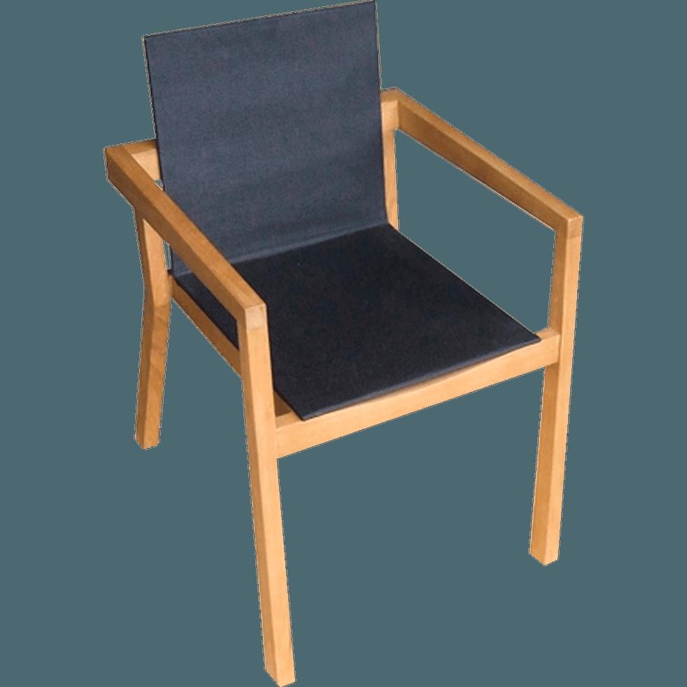 Fauteuil de jardin en eucalyptus et textil ne stanley chaises de jardin alinea - Alinea fauteuil jardin ...