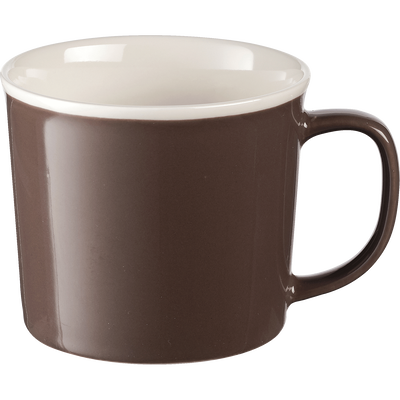 Mug en porcelaine brun châtaigner 35cl-CAFI