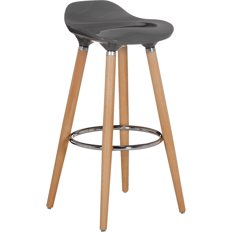 tabouret de bar avec pieds en h tre massif gris jade tabourets fixes hauteur bar alinea. Black Bedroom Furniture Sets. Home Design Ideas